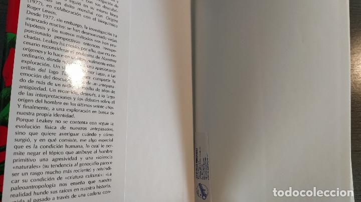 Libros: NUESTROS ORIGENES. RICHARD LEAKEY / ROGER LEWIN CRITICA - Foto 4 - 173865309