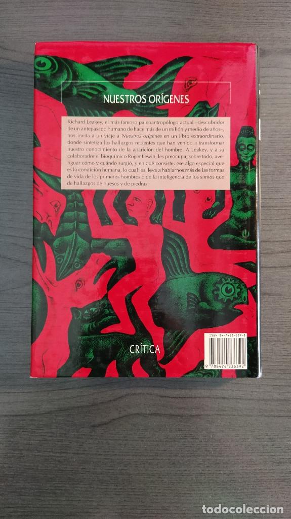 Libros: NUESTROS ORIGENES. RICHARD LEAKEY / ROGER LEWIN CRITICA - Foto 8 - 173865309