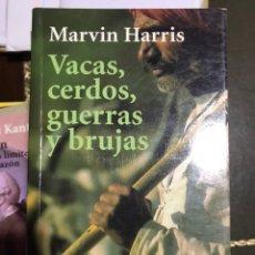 Libros: VACAS CERDOS GUERRAS Y BRUJAS MARVIN HARRIS. Lote 183557393