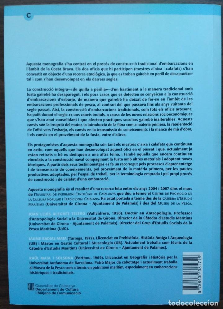 Libros: DE QUILLA A PERILLA. LOFICI DELS MESTRES DAIXA A LA COSTA BRAVA - Foto 4 - 190125797