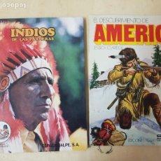 Libros: INDIOS DE LAS PRADERAS-ED.ESPASA-CALPE S.A.-AÑO 1981+EL DESCUBRIMIENTO DE ÁMERICA (INDIOS, TRIBUS..). Lote 192857648