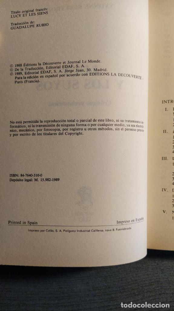 Libros: Lucy y los suyos: crónicas prehistóricas Yvonne Rebeyrol Edaf 1989 - Foto 5 - 193637110