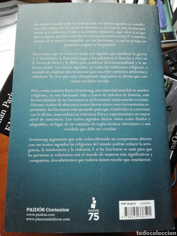 Libros: El arte perdido de las escrituras. Karen Armstrong. Paidos. 2020. Antropología. Libro nuevo - Foto 2 - 194128762