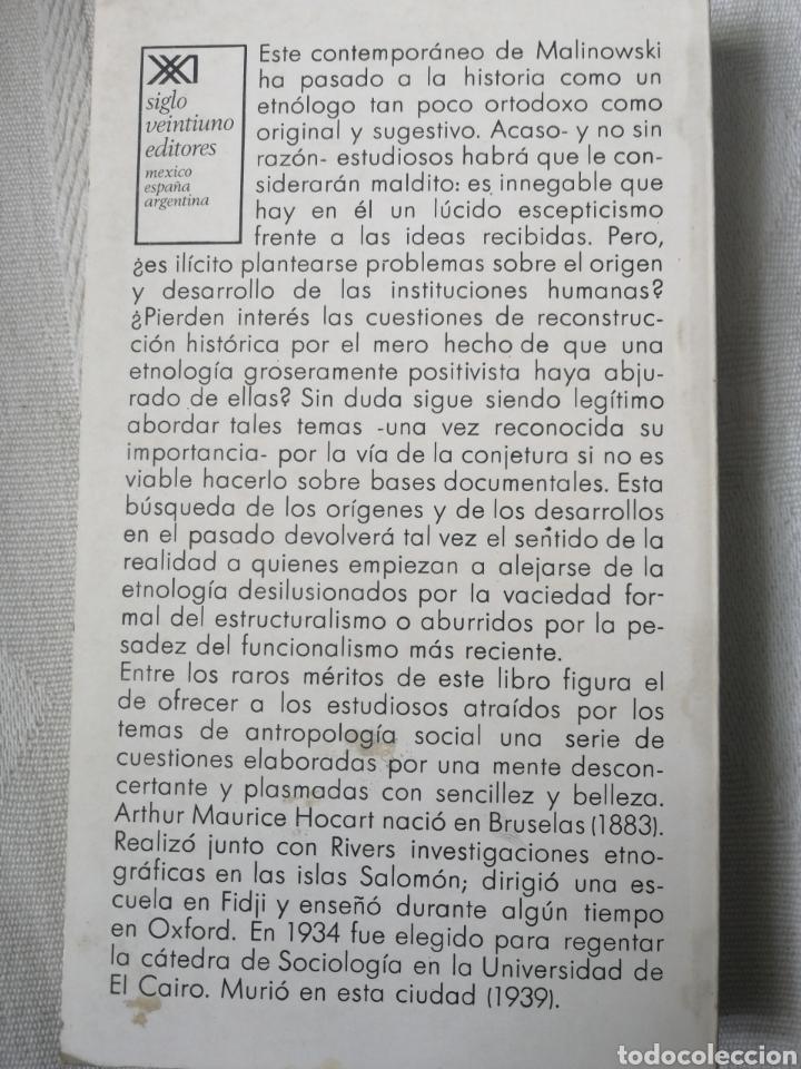 Libros: Mito, ritual y costumbre Arthur M. Hocart Madrid 1975. Siglo veintiuno editores In 8º Rustica ilust - Foto 2 - 196493612