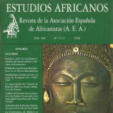 Libros: ESTUDIOS AFRICANOS - REVISTA DE LA AEA, VOL XII, NO 22-23, 1998. Lote 207471880