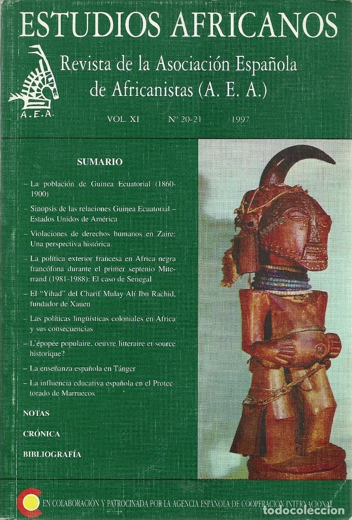 ESTUDIOS AFRICANOS - REVISTA DE LA AEA, VOL XI, NO 20-21, 1997 (Libros Nuevos - Humanidades - Antropología)