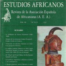 Libros: ESTUDIOS AFRICANOS - REVISTA DE LA AEA, VOL XI, NO 20-21, 1997. Lote 207472025
