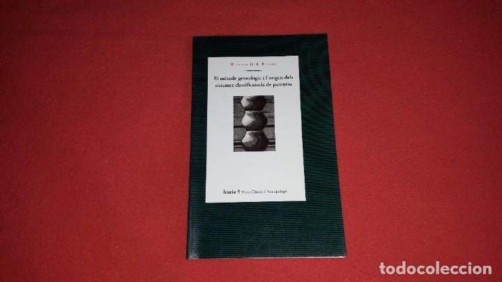EL MÈTODE GENEALÒGIC I L'ORIGEN DELS SISTEMES CLASSIFICATORIS DE PARENTIU. WILLIAM H.R.RIVERS (Libros Nuevos - Humanidades - Antropología)