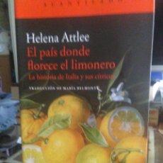 Libros: HELENA ATTLE.EL PAÍS DONDE CRECE EL LIMONERO .ACANTILADO. Lote 244454475