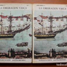 Libros: LA EMIGRACIÓN VASCA / PIERRE LHANDE S. J. / 2 TOMOS. Lote 242407250
