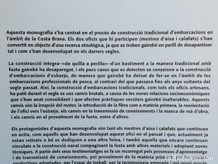 Libros: DE QUILLA A PERILLA / LOFICI DELS MESTRES DAIXA A LA COSTA BRAVA / VV.AA - 2009 / NUEVO. - Foto 3 - 249297845