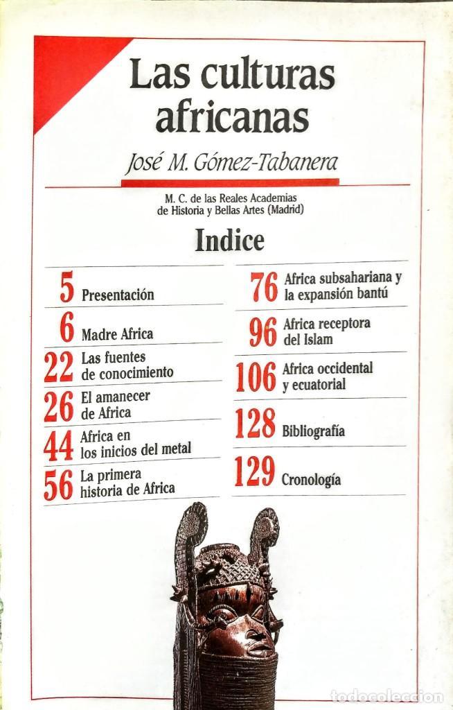 Libros: LAS CULTURAS AFRICANAS.HISTORIAS DEL NUEVO MUNDO Nº 14.GOMEZ TABANERA - Foto 2 - 251627960
