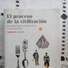 Livros: PROCESO DE CIVILIZACIÓN - NORBERT ELIAS. Lote 257647615