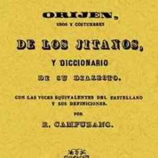 Libros: ORIGEN USOS Y COSTUMBRES DE LOS GITANOS Y DICCIONARIO DE SU DIALECTO. FACSÍMIL. Lote 258750385
