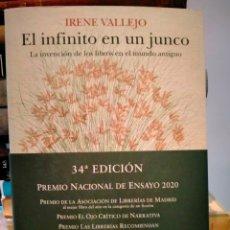 Libros: IRENE VALLEJO. EL INFINITO EN UN JUNCO .SIRUELA ENSAYO. Lote 266173298