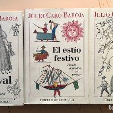 Libros: JULIO CARO BAROJA: EL AÑO FESTIVO (3 VOLS.). Lote 288502273