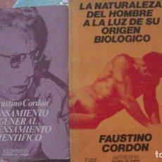 Libros: ANTROPOLOGIA. CORDON, FAUSTINO. ANTHROPOS (2 LIBROS). Lote 291882953