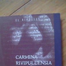 Libros: CARMINA RIVIPULLENSIA .EL CANÇONER ERÒTIC DE RIPOLL.: CONSELL COMARCAL DEL RIPOLLÈS, 1995. Lote 293866848
