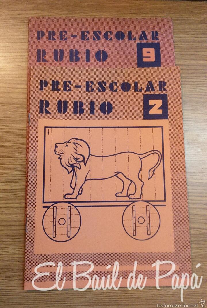 CALIGRAFÍAS PRE-ESCOLAR RUBIO NUEVAS AÑOS 70 (Libros Nuevos - Educación - Aprendizaje)