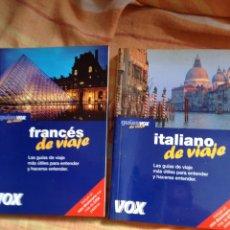 Libros: LOTE MINI DICCIONARIOS FRANCÉS E ITALIANO DE VIAJE VOX. Lote 55683932