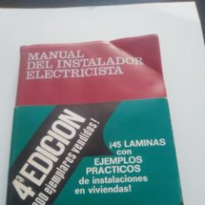 Libros: MANUAL DEL INSTALADOR ELECTRICISTA. Lote 93666510