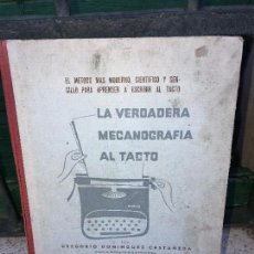 Libros: LA VERDADERA MECANOGRAFIA AL TACTO. Lote 94202130