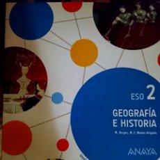 Libros: LIBRO GEOGRAFIA HISTORIA 2 ESO VALENCIA. Lote 97249034