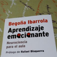 Libros: LIBRO BEGOÑA IBARROLA RAFAEL BISQUERRA. APRENDIZAJE EMOCIONANTE. BIBLIOTECA INNOVACIÓN EDUCATIVA. SM. Lote 97393818