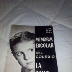 Libros: MEMORIA ESCOLAR DEL COLEGIO LA SALLE SANTANDER 1963-1964. Lote 102624703