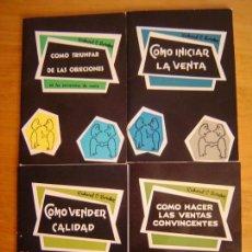 Libros: COLECCION DE 4 LIBROS DE TECNICA DE VENTAS DE EDICUINES RASA DE LOS AÑOS 60 NUEVOS. Lote 107830811