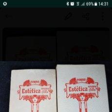 Libros: ESTÉTICA APLICADA A LA MUSICA. Lote 108046948