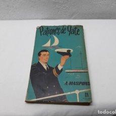 Libros: PATRONES DE YATE. Lote 109526331