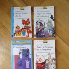 Libros: LOTE 4 LIBRO. LITERATURA INFANTIL. SM.EL BARCO DE VAPOR.A PARTIR DE 7 AÑOS. Lote 112232544