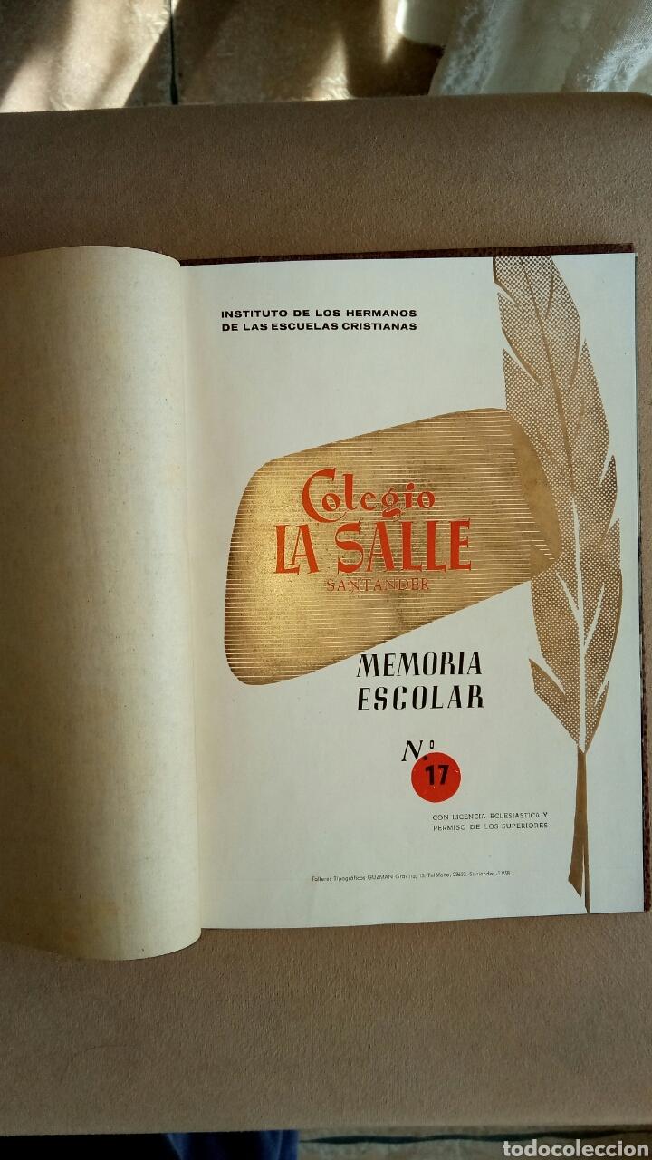 Libros: Memoria escolar La Salle Santander 1957/58 - Foto 2 - 113649364