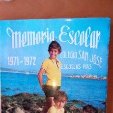Libros: MEMORIA ESCOLAR COLEGIO SAN JOSÉ SANTANDER 1971/72. Lote 113682894