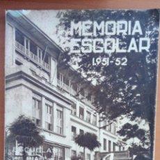 Libros: MEMORIA ESCOLAR COLEGIO SAN JOSÉ SANTANDER. 1951/52.. Lote 113889791