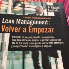 Libros: LEAN MANAGEMENT. Lote 114674643