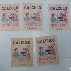 Libros: LOTE 5 CARTILLA O CUADERNO DE CALCULO EDITORIAL PAIDEIA AÑO 1975. NUEVAS. Lote 115002152