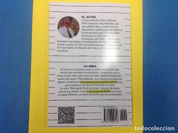 Libros: Manual de instrucciones para universitarios primerizos. Enrique Romero. 2018 - Foto 2 - 126474535