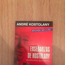 Libros: ENSEÑANZAS DE KOSTOLANY. SEMINARIO BURSÁTIL - ANDRÉ KOSTOLANY. Lote 128150962
