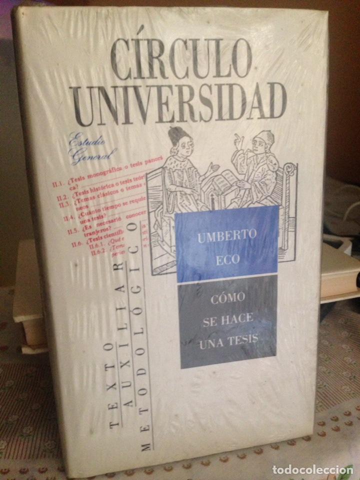 Libros: Umberto Eco. Cómo se hace una tesis. Círculo universidad. Barcelona 1989. - Foto 2 - 133399274