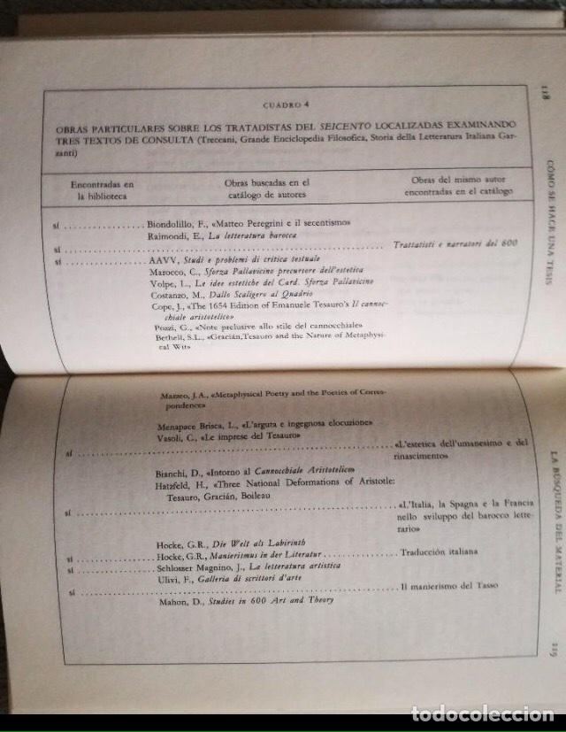 Libros: Umberto Eco. Cómo se hace una tesis. Círculo universidad. Barcelona 1989. - Foto 4 - 133399274