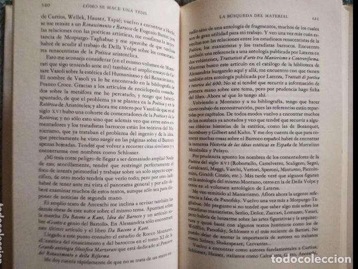 Libros: Umberto Eco. Cómo se hace una tesis. Círculo universidad. Barcelona 1989. - Foto 5 - 133399274