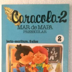 Libros: CARACOLA 2 (2º TRIMESTRE) PREESCOLAR LECTO ESCRITURA 5 AÑOS. S.M.. Lote 207112755
