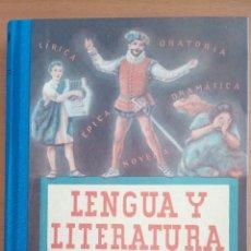 Libros: LENGUA Y LITERATURA ESPAÑOLA. CUARTO CURSO.. Lote 137599066