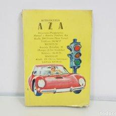Libros: AUTO ESCUELA AZA LIBRO DE AUTOESCUELA MEDIDAS 15,5 X 10,5CMS. Lote 141183206