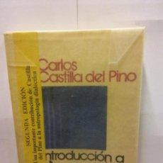 Libros: STQ.CARLOS CASTLLA DEL PINO.INTRODUCCION A LA HERMENEUTICA DEL LENGUAJE.BRUMART TU LIBRERIA.. Lote 145945666