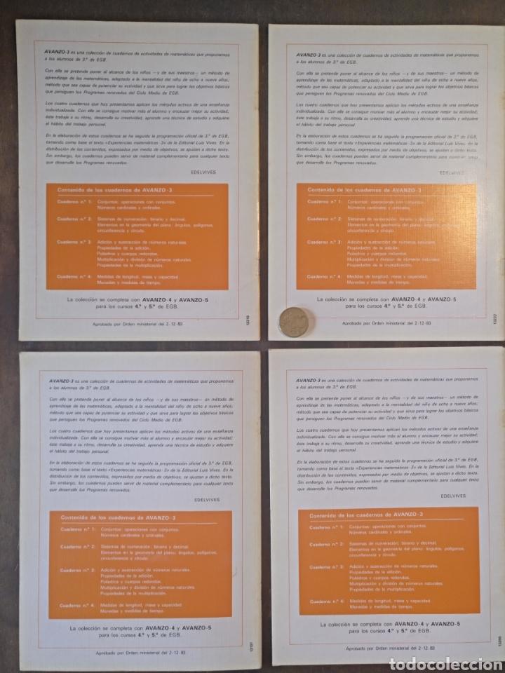 Libros: Colección Avanzo 3 Edelvives Actividades de matemáticas 1, 2, 3, 4 - Foto 2 - 149464606