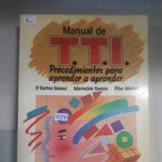Libros: MANUAL DE TECNICAS DE TRABAJO INTELECTUAL . Lote 150922102