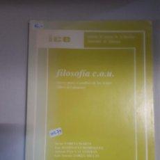 Libros: FILOSOFIA C.O.U.. Lote 150931406
